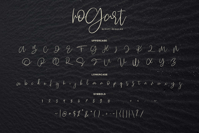 Hogart Script example image 3