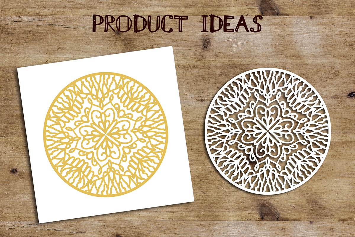 Circular Ornament Template | SVG DXF EPS PSD PNG JPEG example image 4