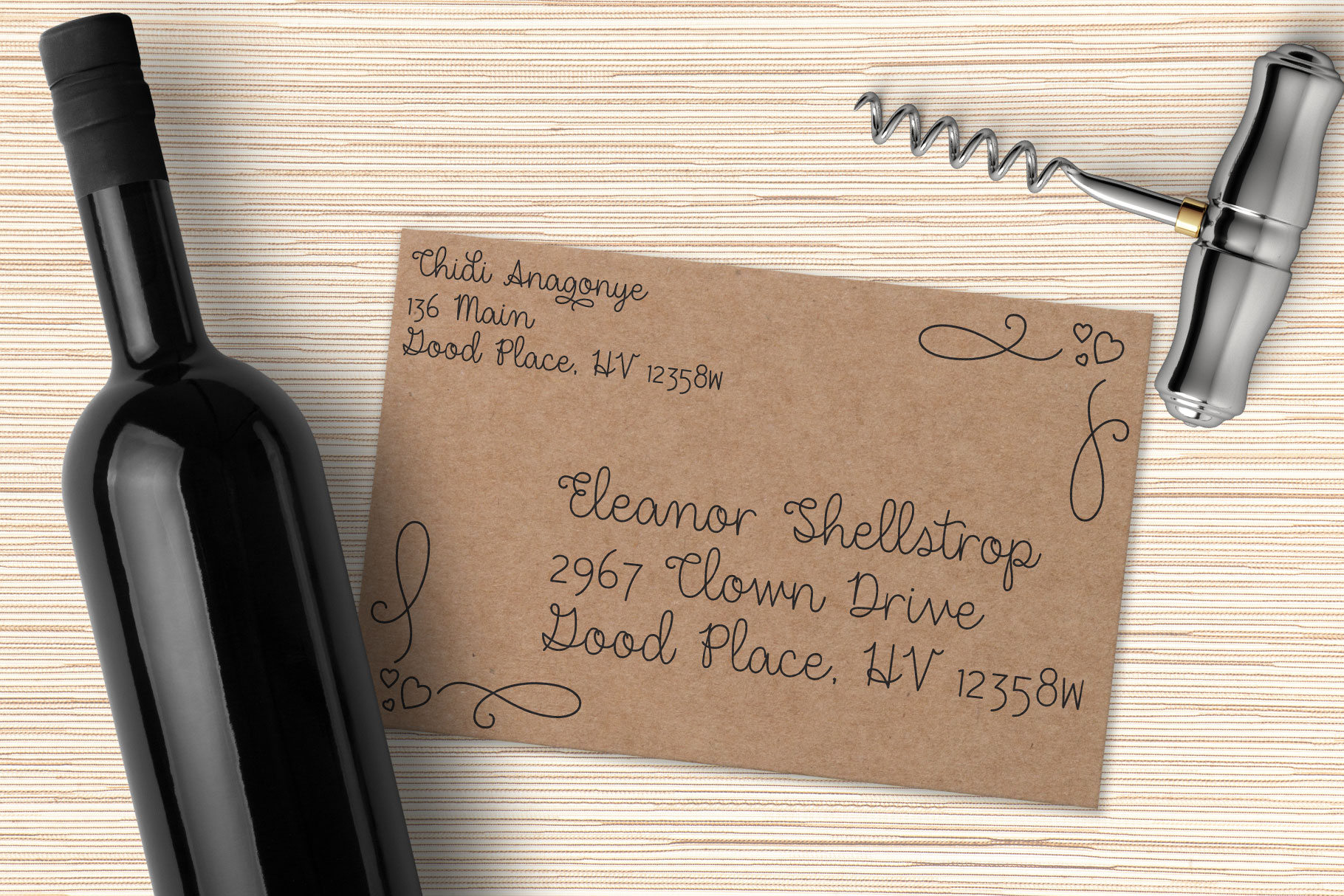 Dear Agatha - a single-line hairline pen & quill font duo! example image 6