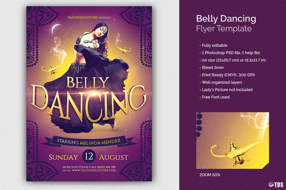 Belly Dancing Flyer Template example image 1