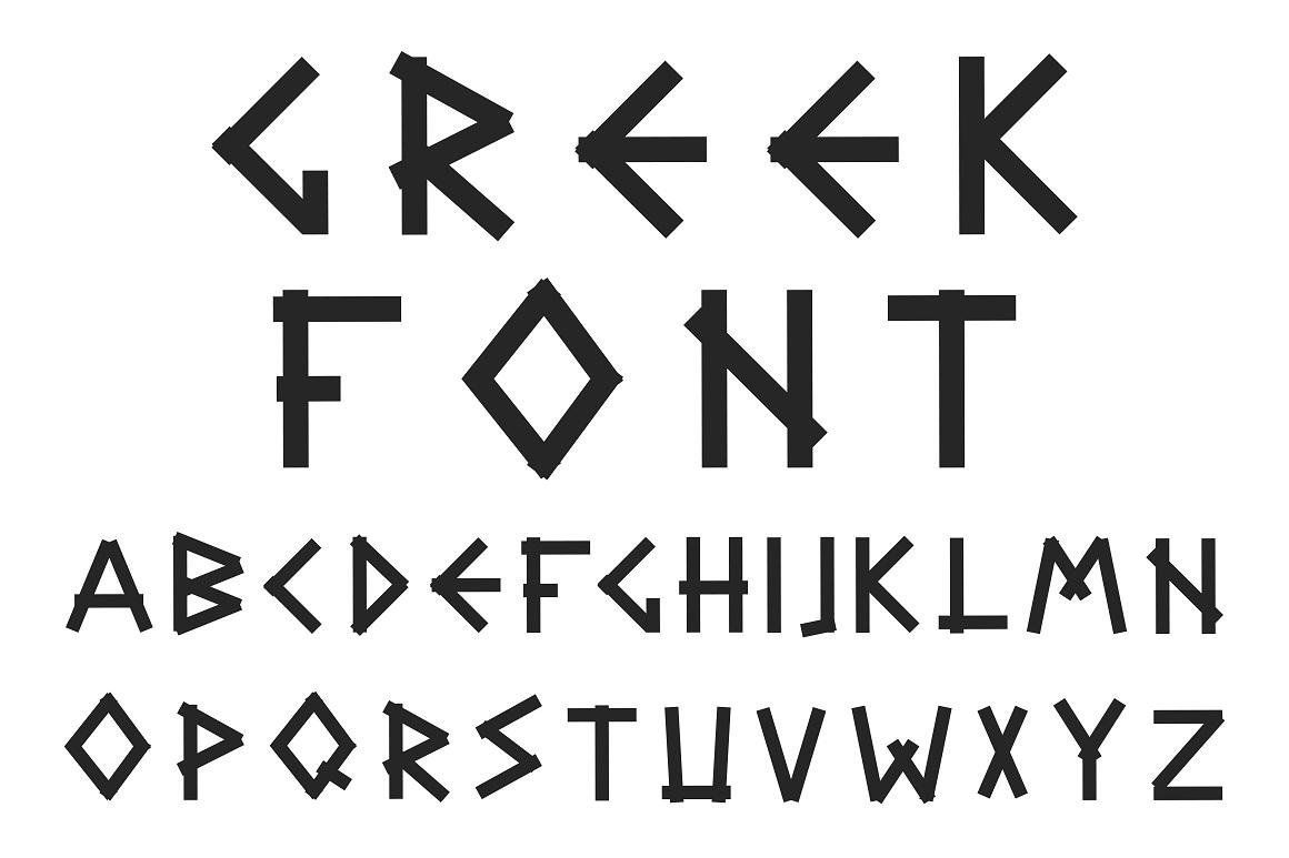 Greek letters - english alphabet. example image 4