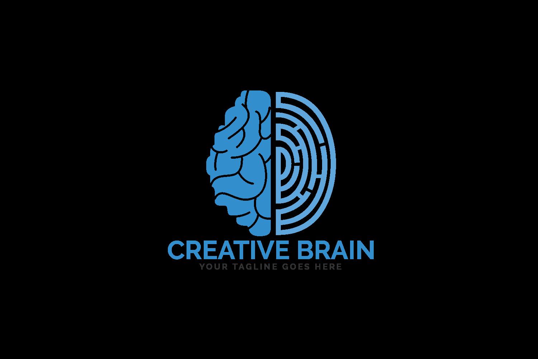 Brain and Fingerprint Logo Design. Forensic Science symbol. example image 2