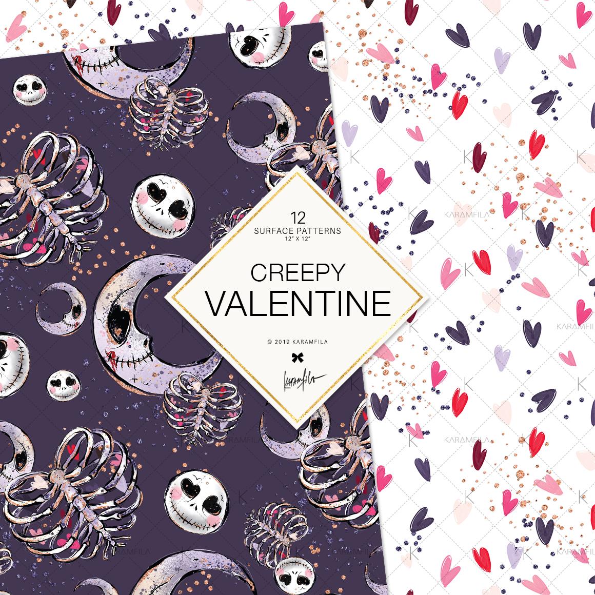 Creepy Valentine's Day Patterns example image 4