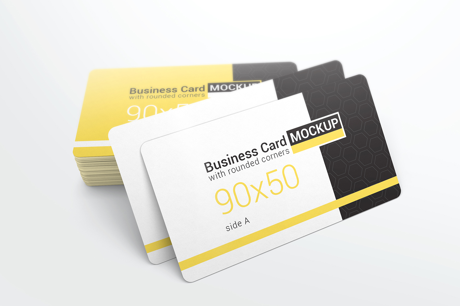 Business Card With Rounded Corners Mockups example image 2