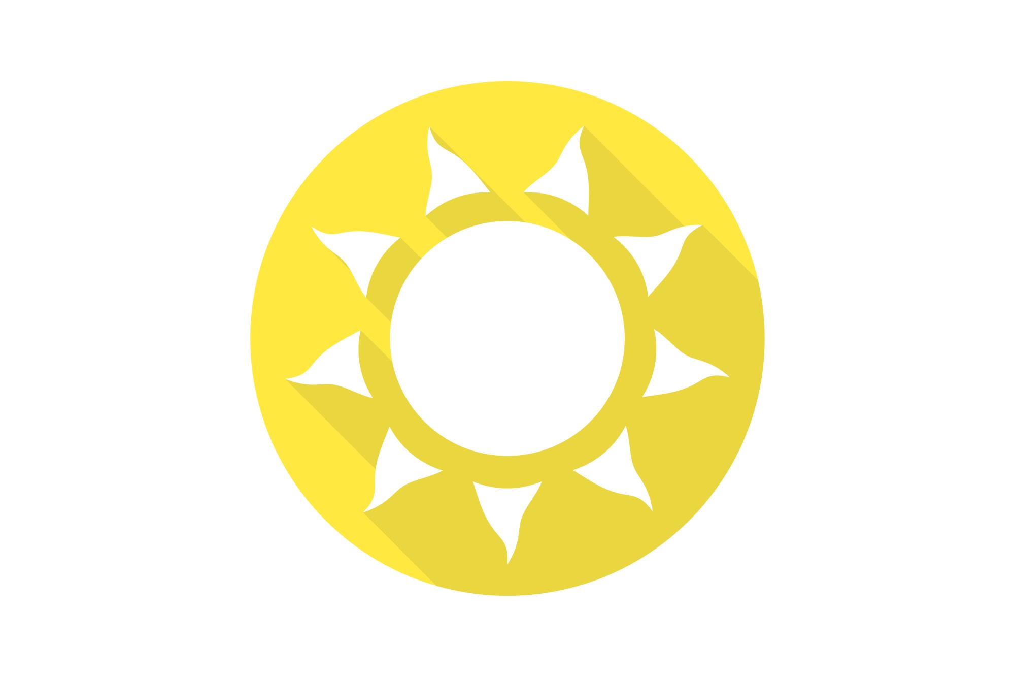 Vector sun icons set. Flat design. example image 8