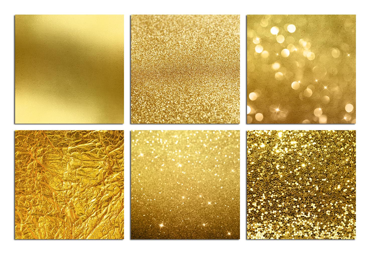 Gold Foil & Glitter Digital Paper example image 3