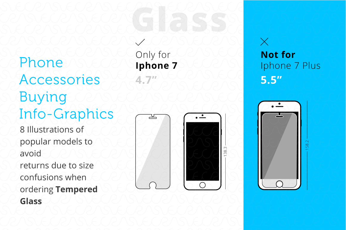 Phone Accessories Customer Guide Info-Graphics Illustrations example image 3
