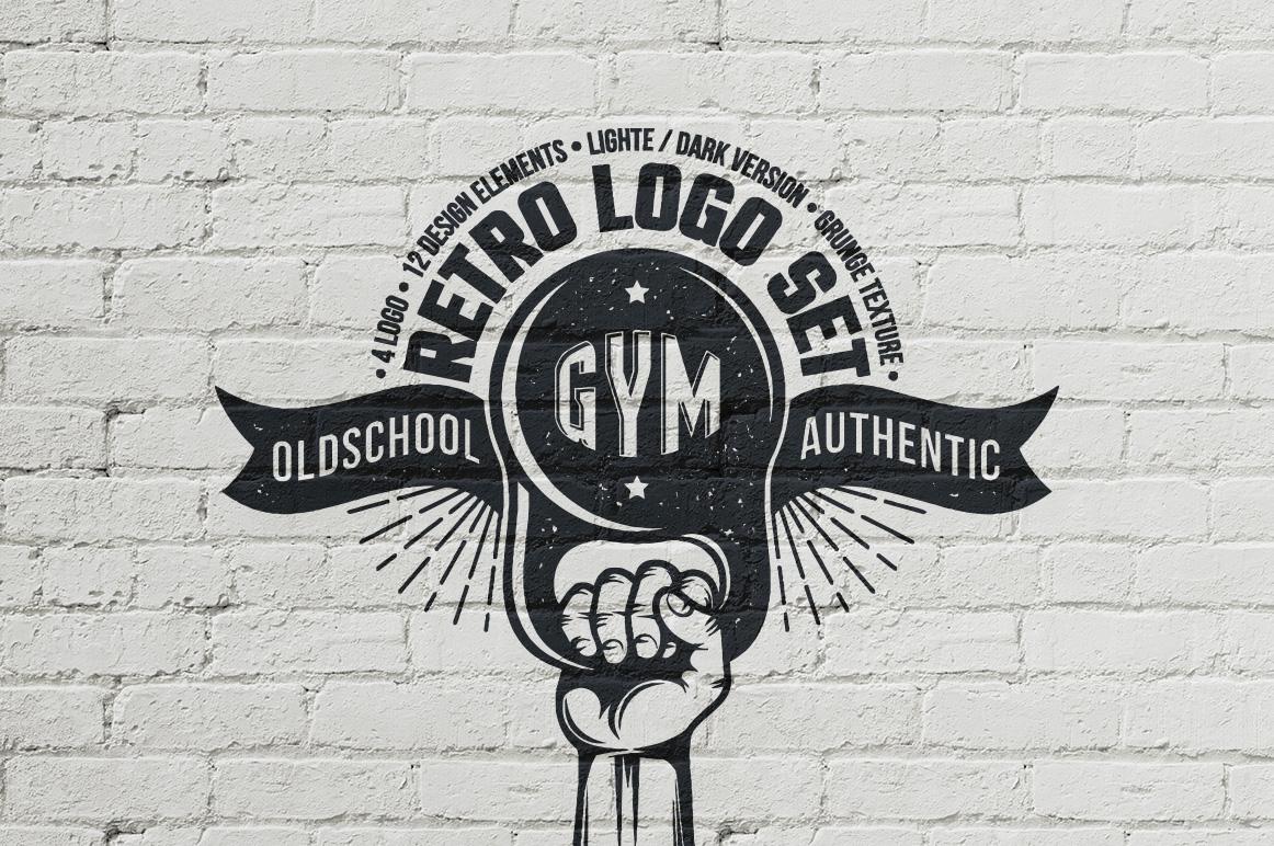 gym retro logo