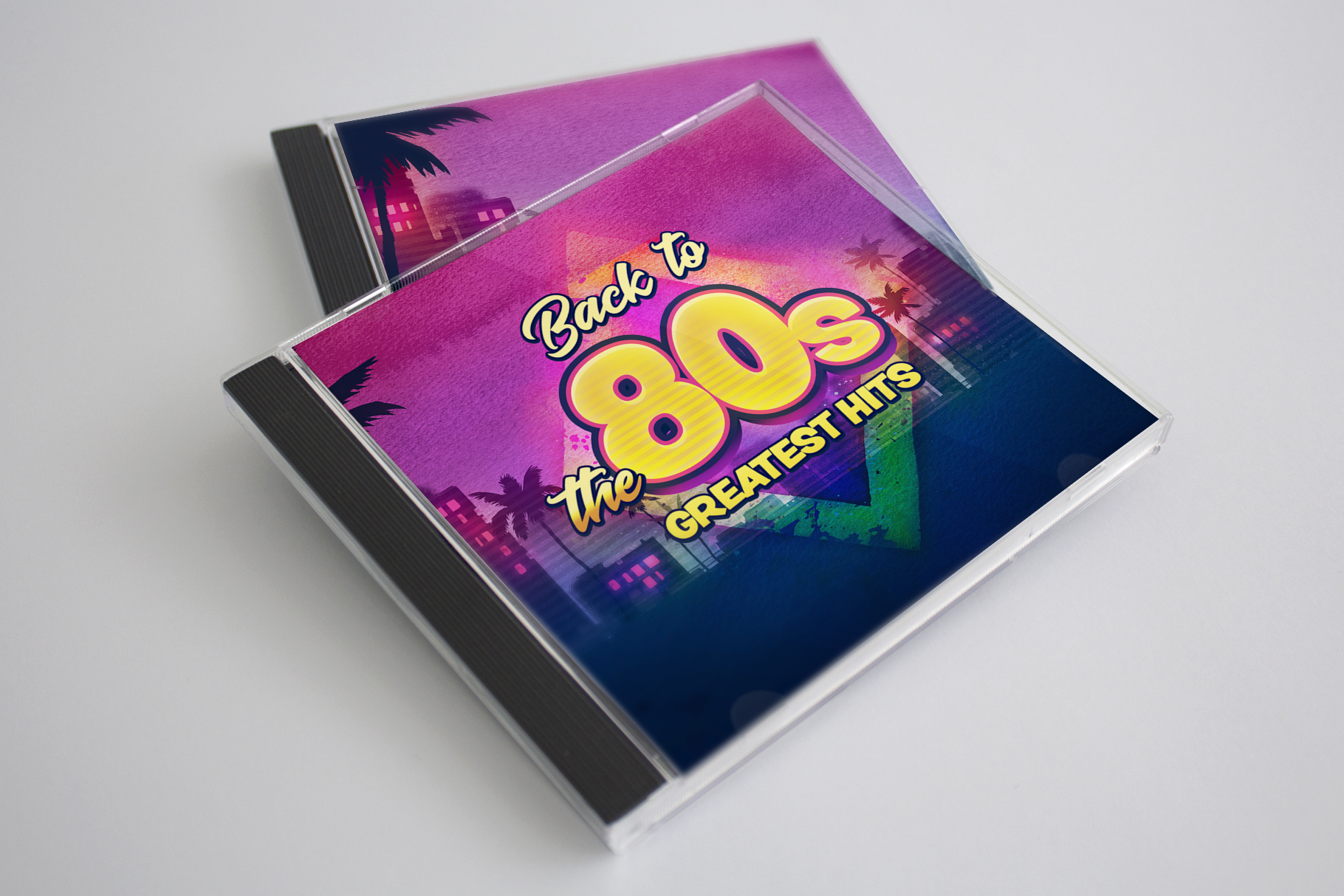 80s Retro Watercolor backgrounds. example image 4