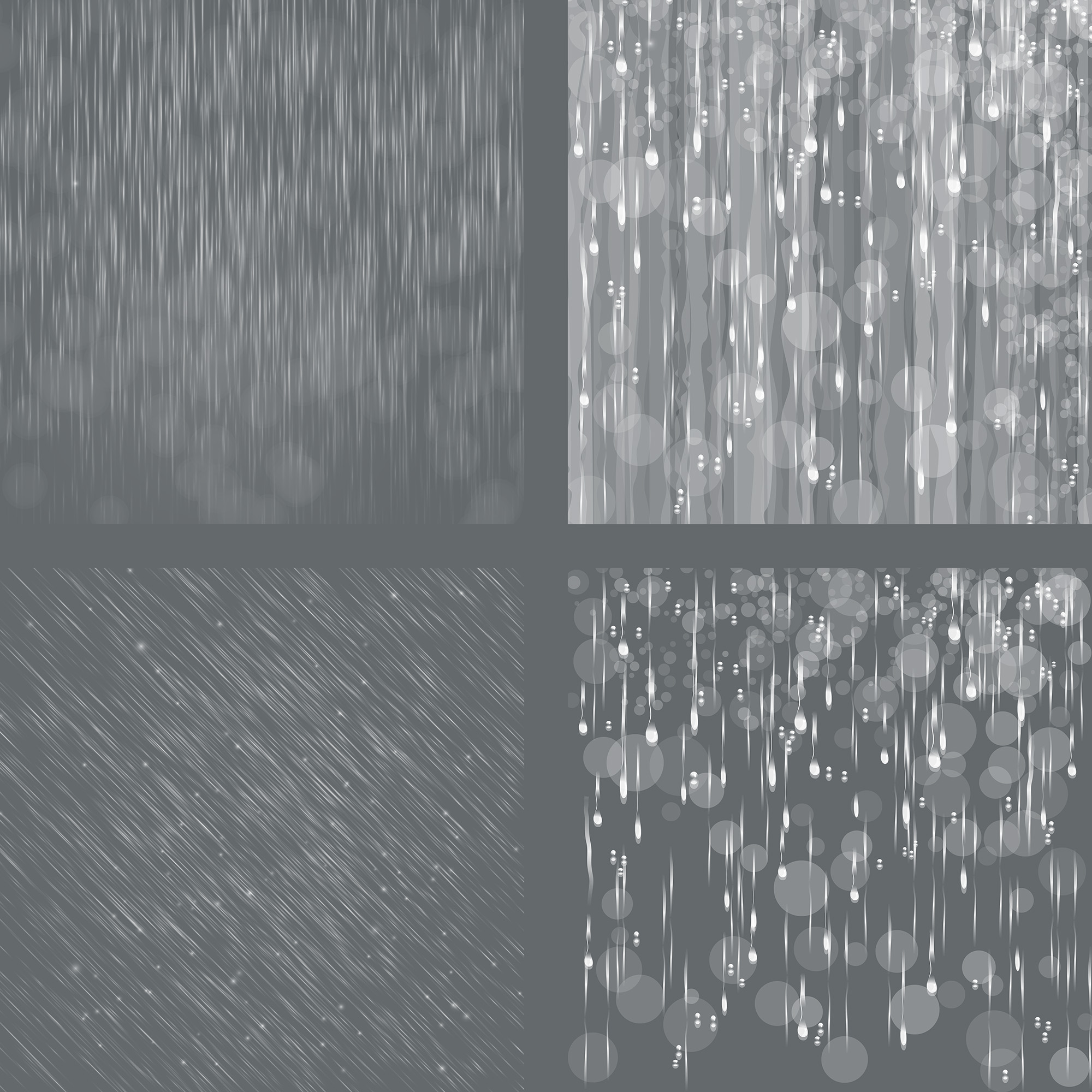 Rain Overlays Clipart, Falling Rain, Photoshop Overlays example image 5