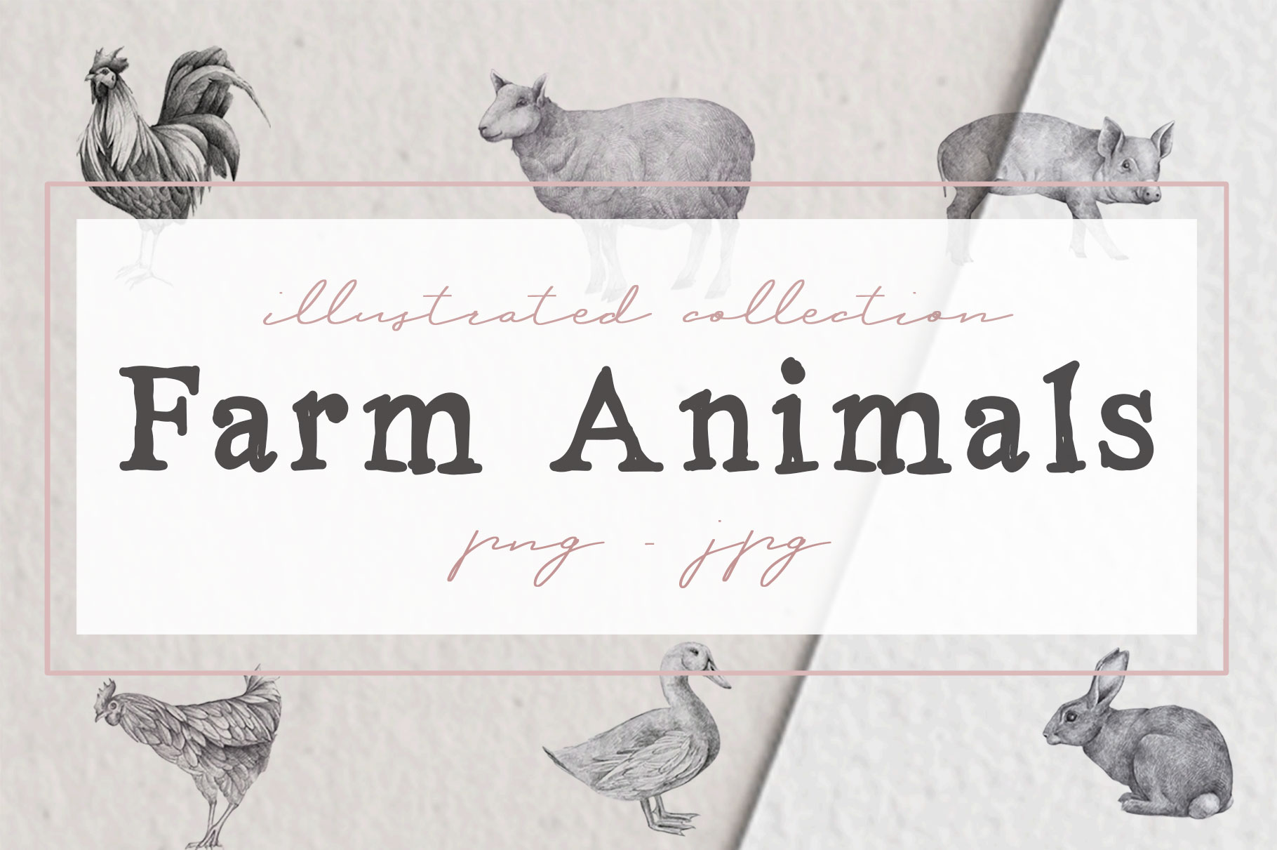 Farm Animals Illustration Pack example image 1