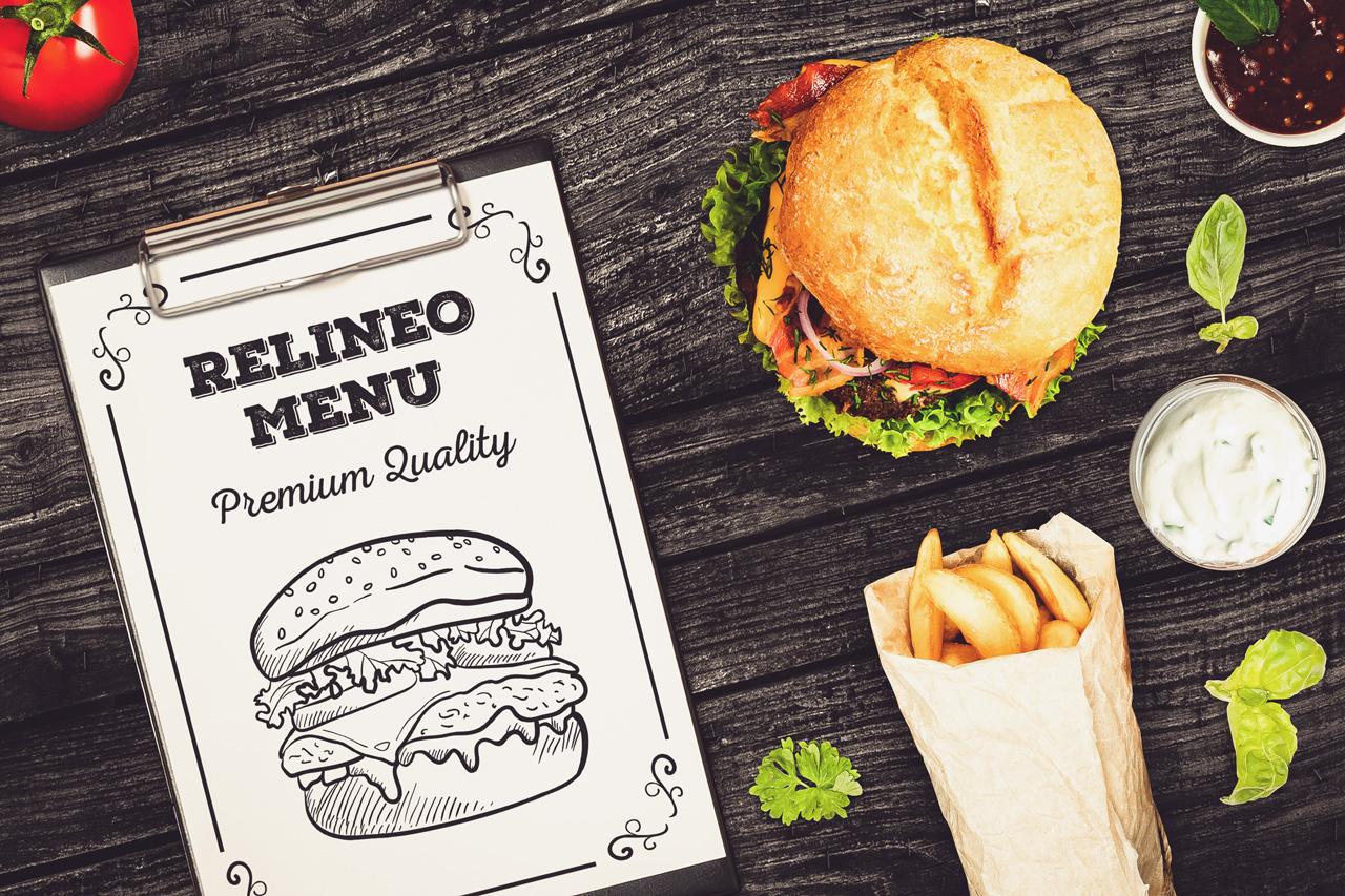 Fast Food Menu Mock-up Pack#1 example image 2