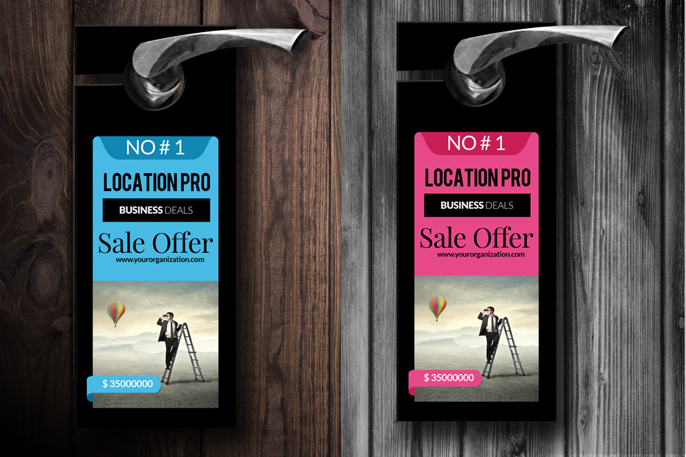 Business Solution Door Hangers example image 2