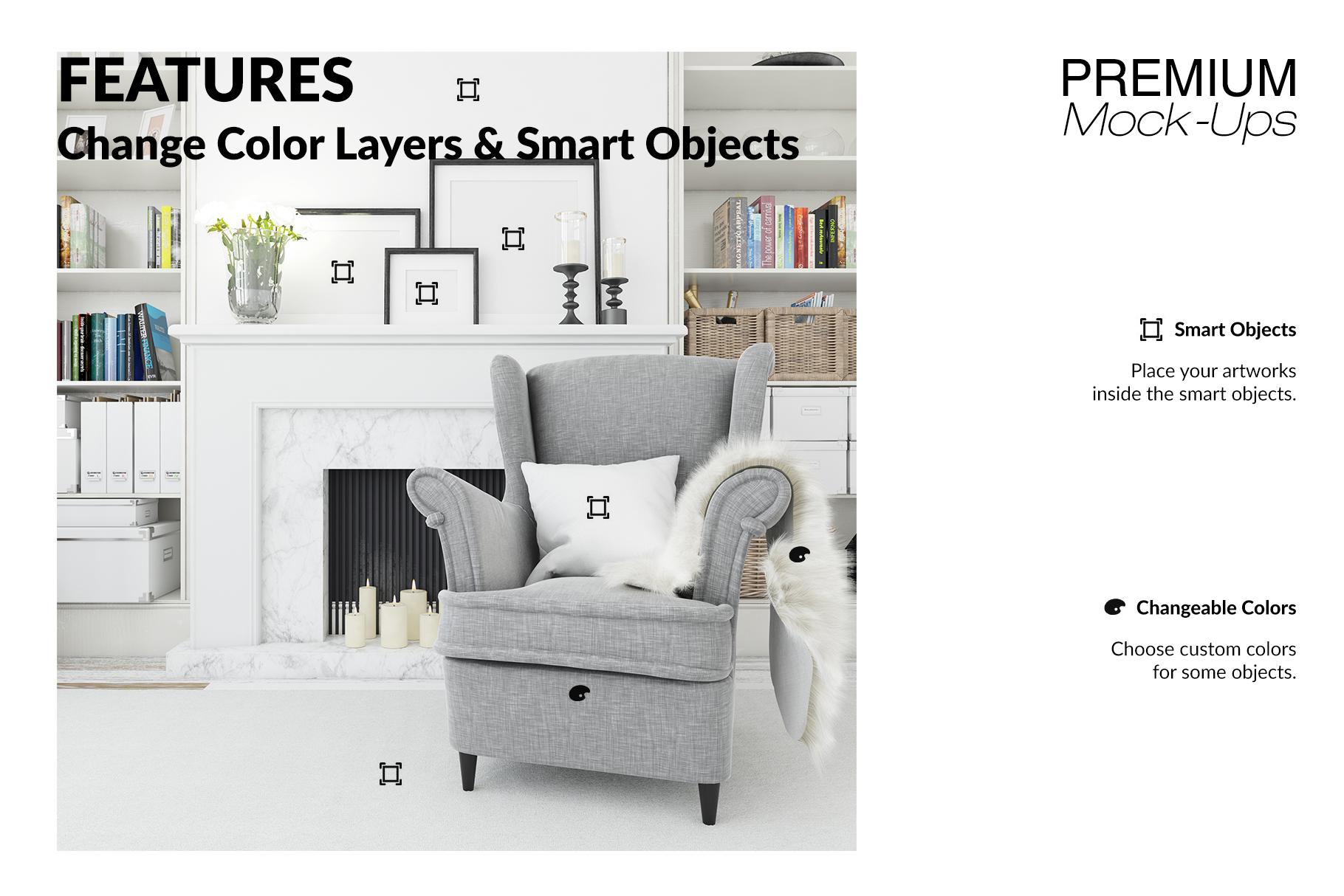 Christmas Living Room - Pillow & Frames Set example image 17