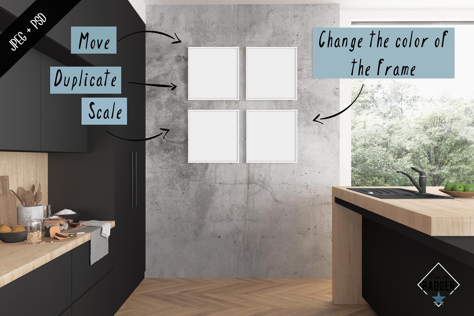 Interior mockup - frame & wall mockup creator example image 3