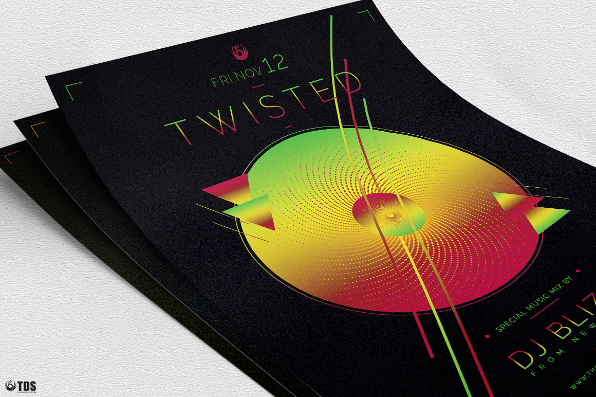 Twisted Session Flyer Template example image 8