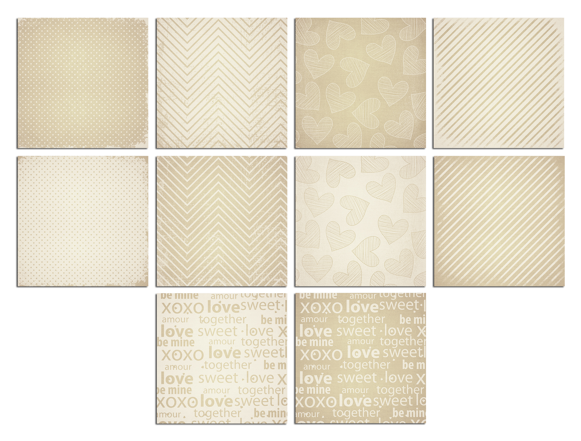 Wedding Canvas Digital Paper example image 2