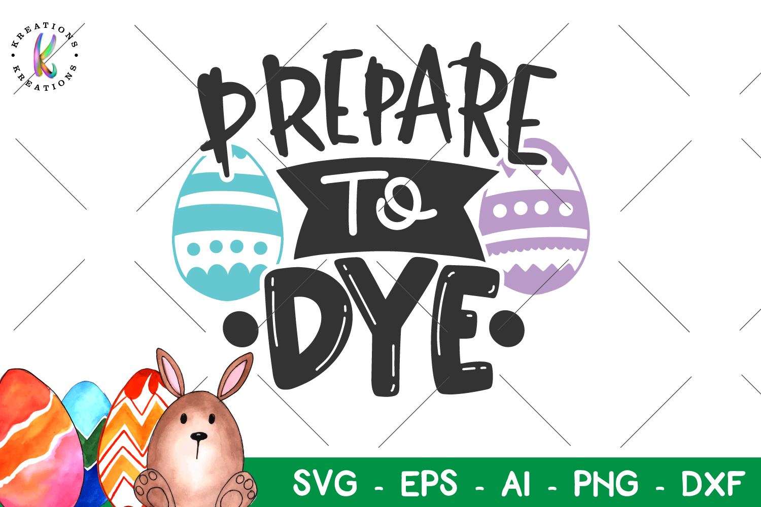 Easter svg Prepare to Dye svg Dye easter eggs pun funny example image 1