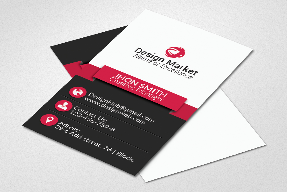 Vertical Business Cards Psd Templates example image 1