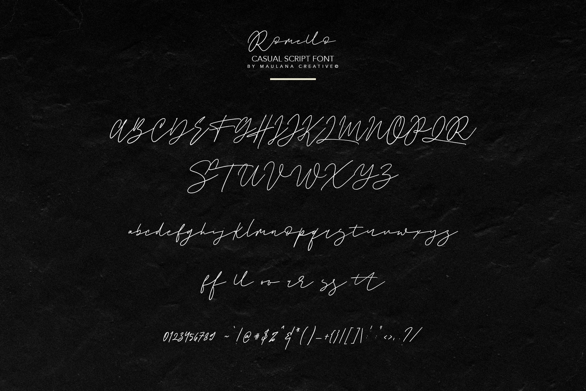 Romello Brush Signature Font example image 10
