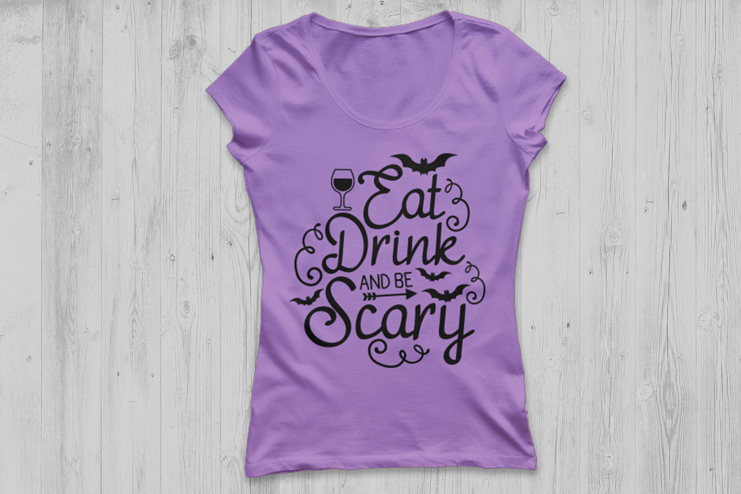 Eat, drink and be scary svg, halloween svg, spooky svg, bat. example image 2