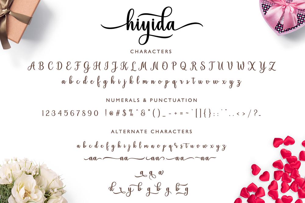 Hiyida Script example image 9