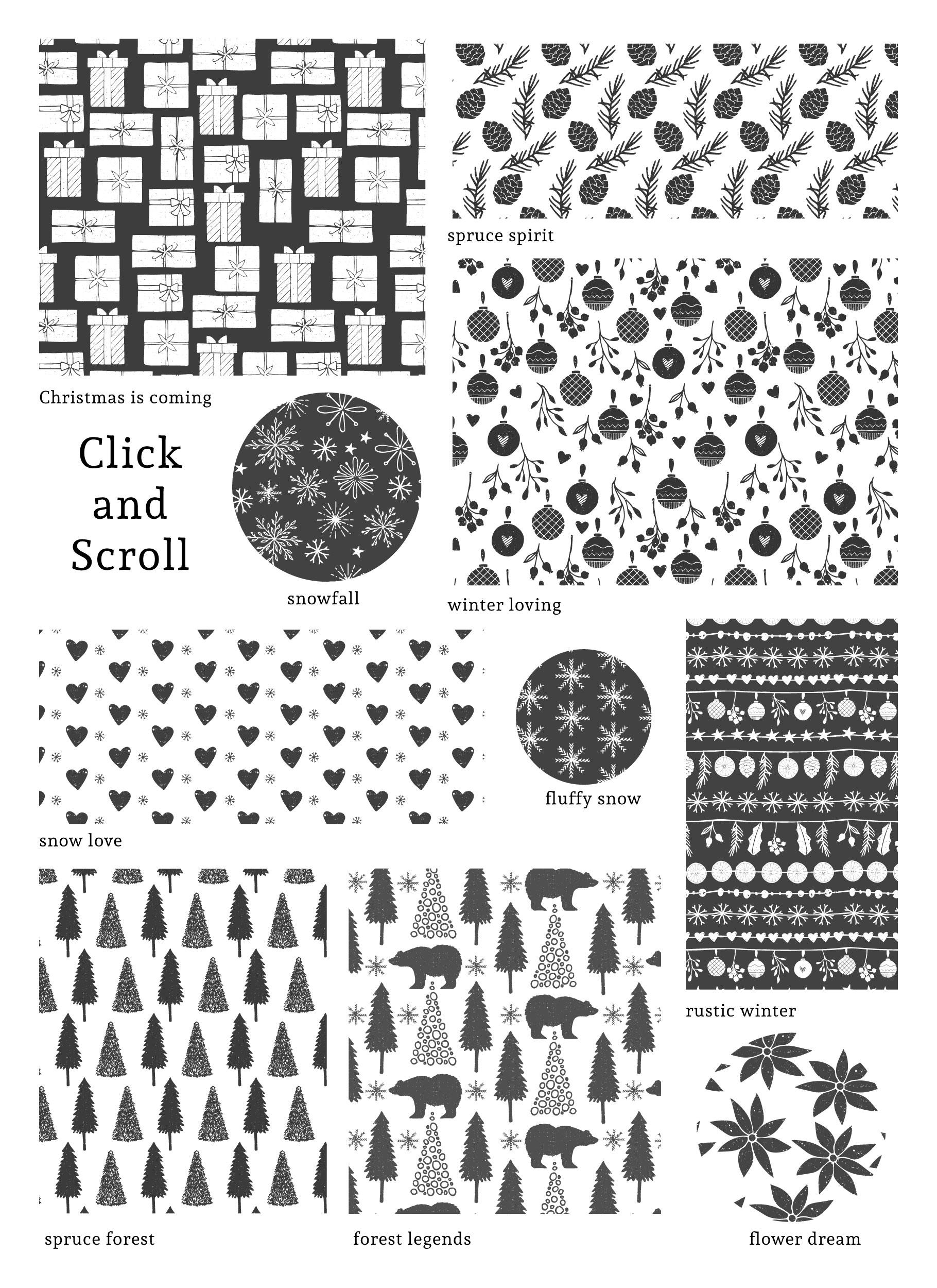 Scandinavian Christmas Patterns example image 6