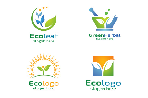 Green leaf Ecology Logo Template example image 1