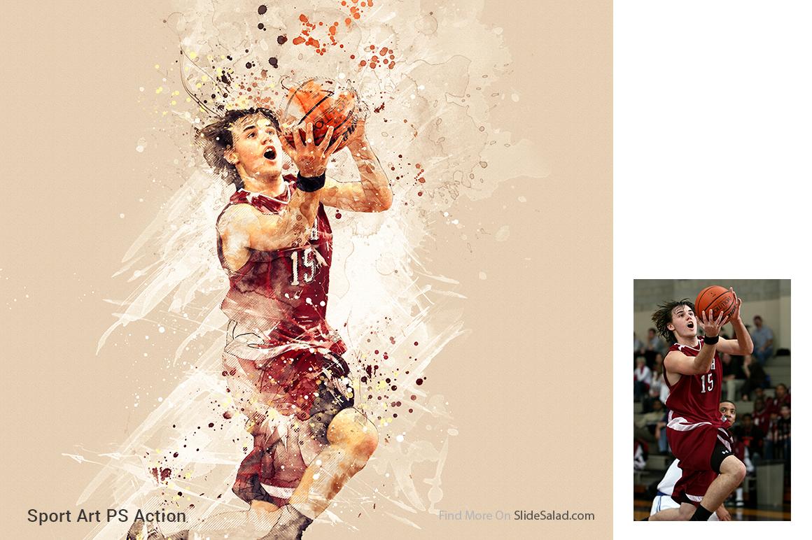 Sports Modern Art Photoshop Action example image 11