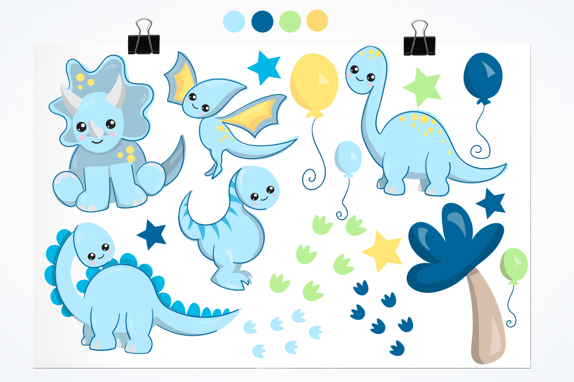 Nursery dinosaurs graphics and illustrations example image 2