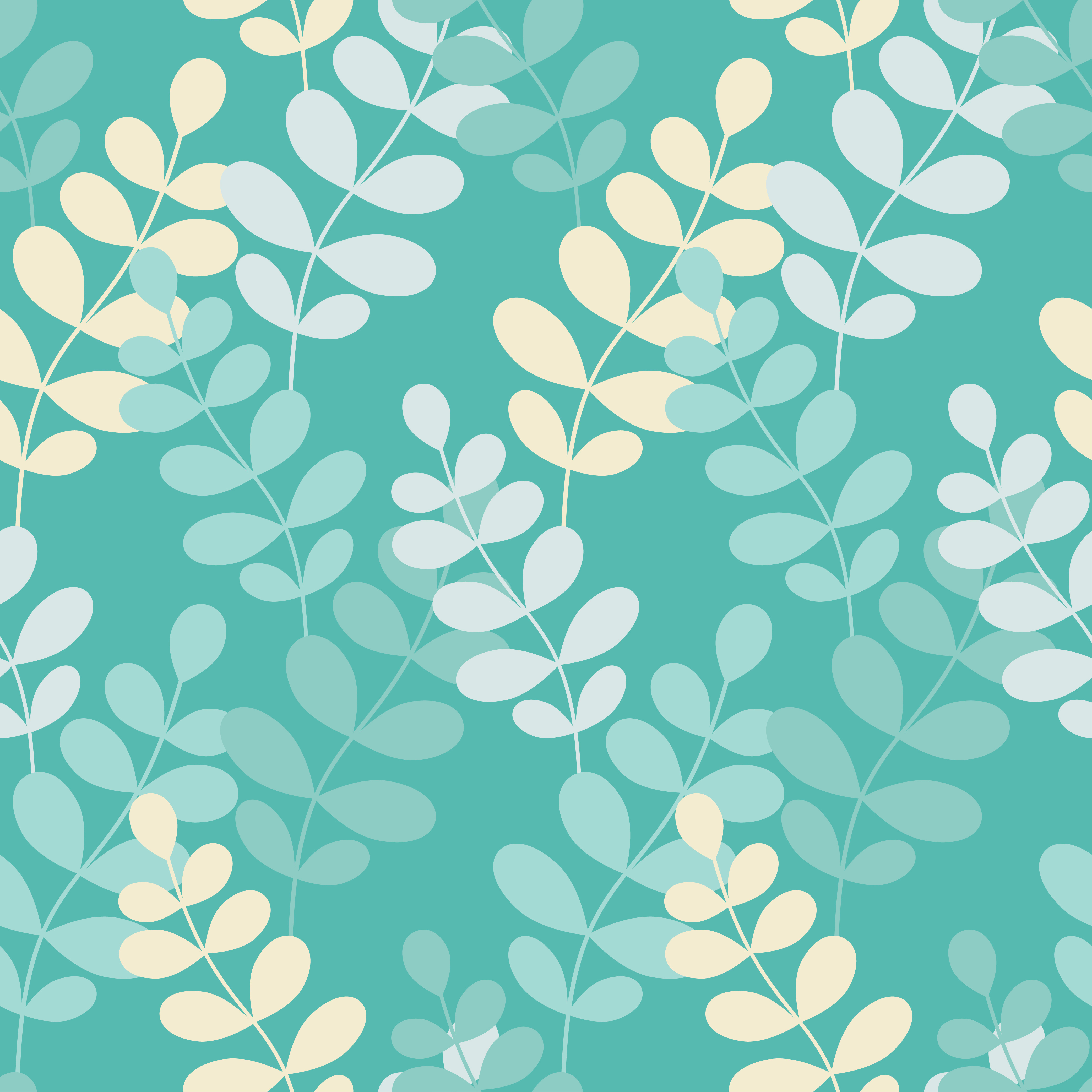 Seamless vector background with decorative branche and leaves. Pattern with plants. example image 7
