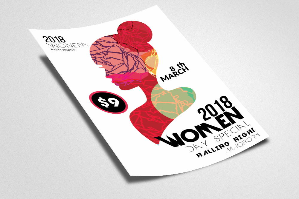 Women Day Flyer Template example image 2