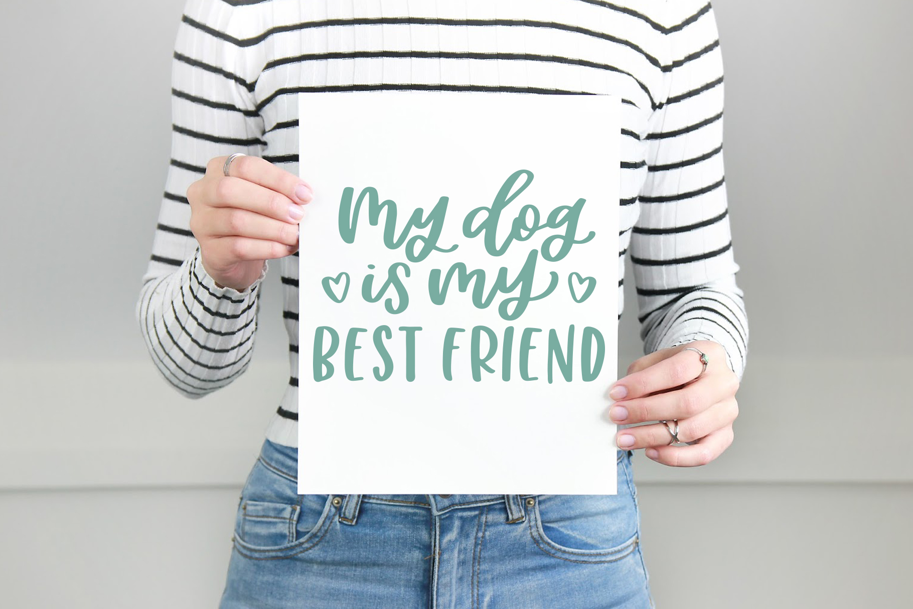My Dog Is My Best Friend, Hand Lettered SVG Cut File example image 2