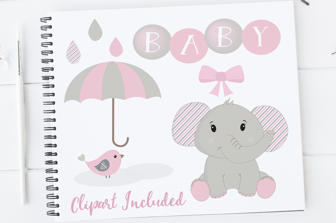Baby Girl Clipart Elephant Clipart Baby Clip Art Baby Shower