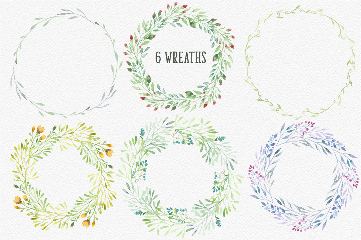 Watercolor floral design resources example image 3