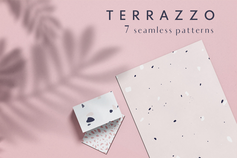Terrazzo seamless patterns example image 1