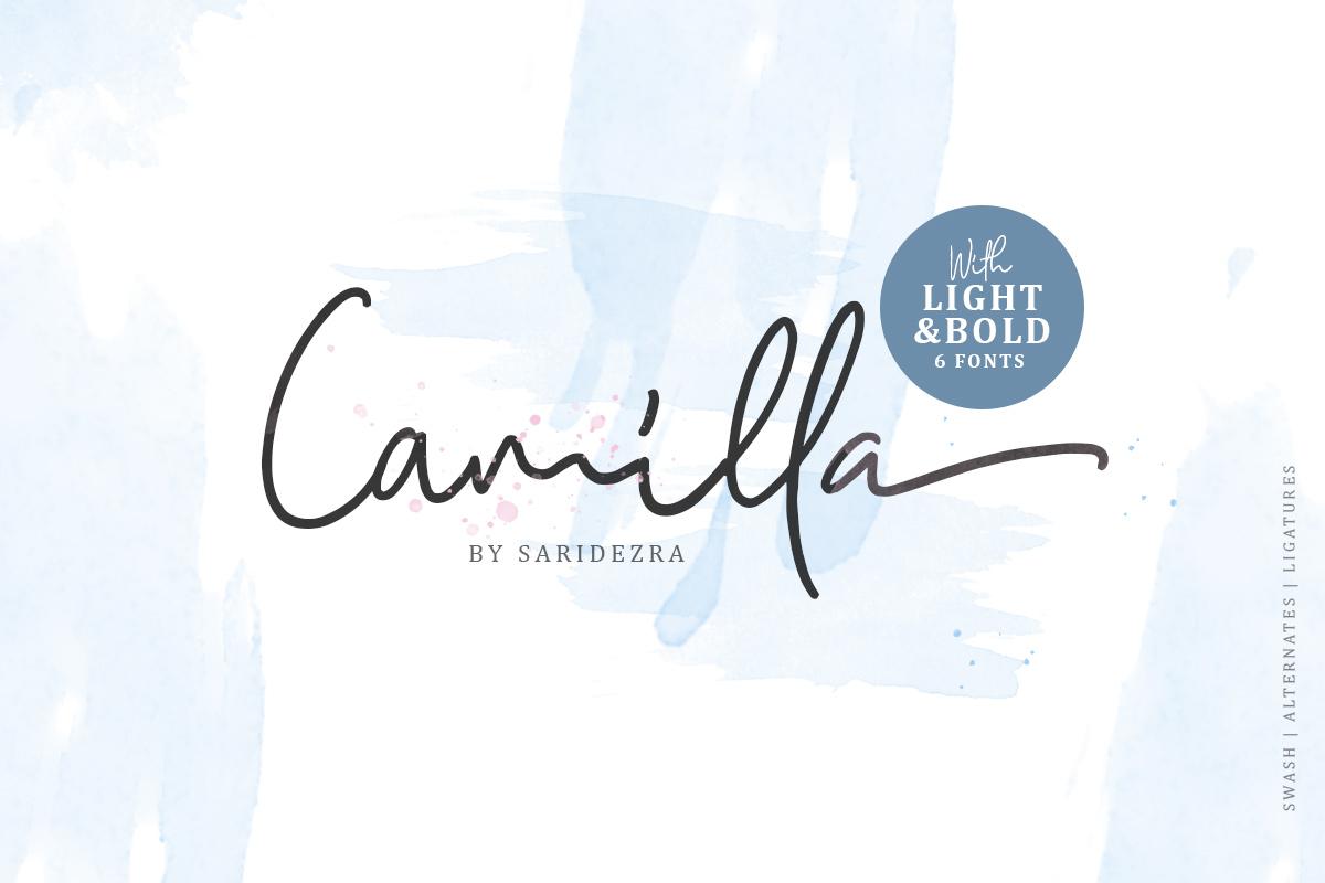 Camilla - Signature Script 6 Fonts example image 1