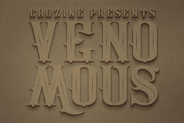 Venomous Typeface example image 2