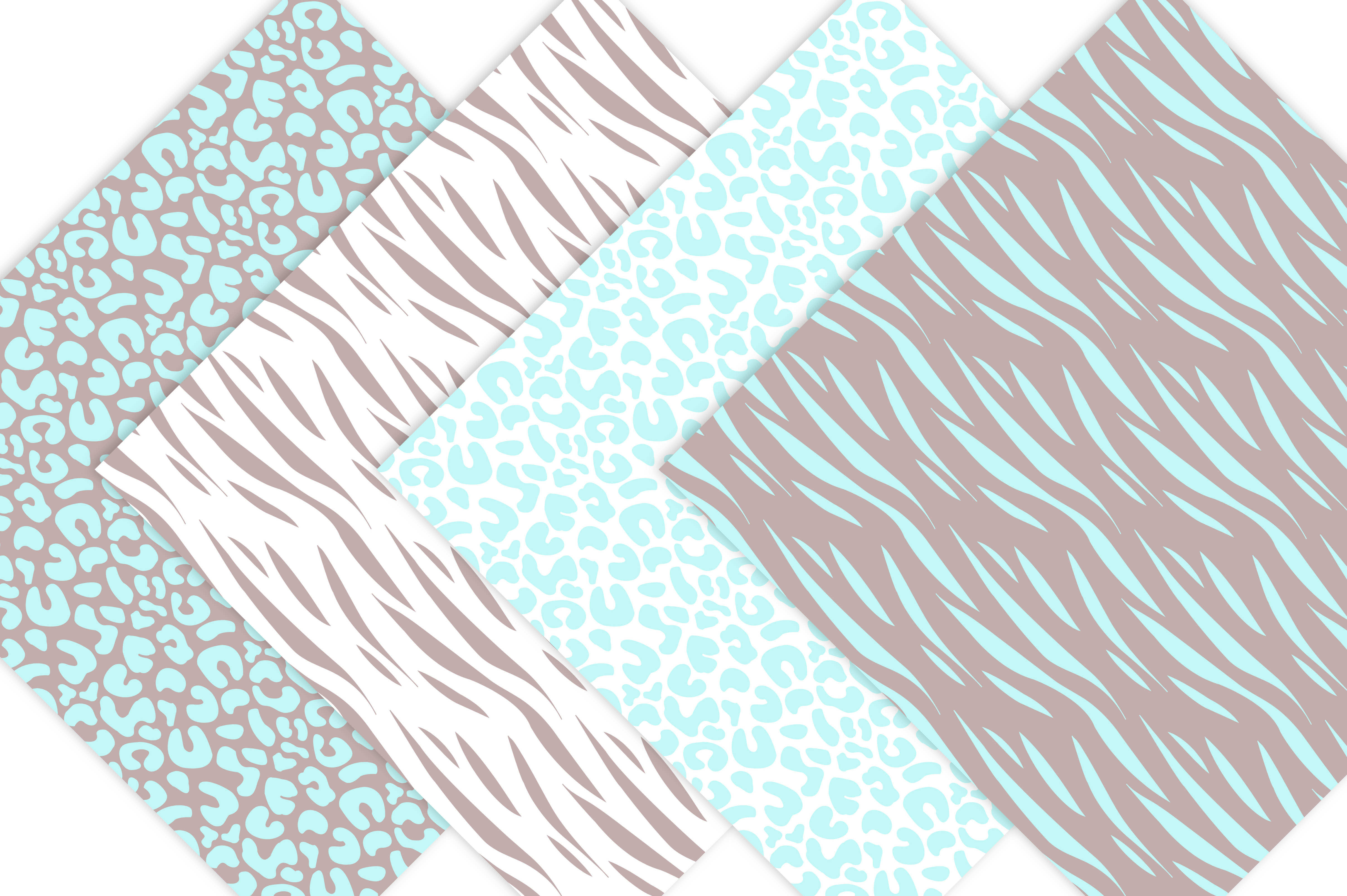 Animal Prints - Baby Blue Safari example image 4