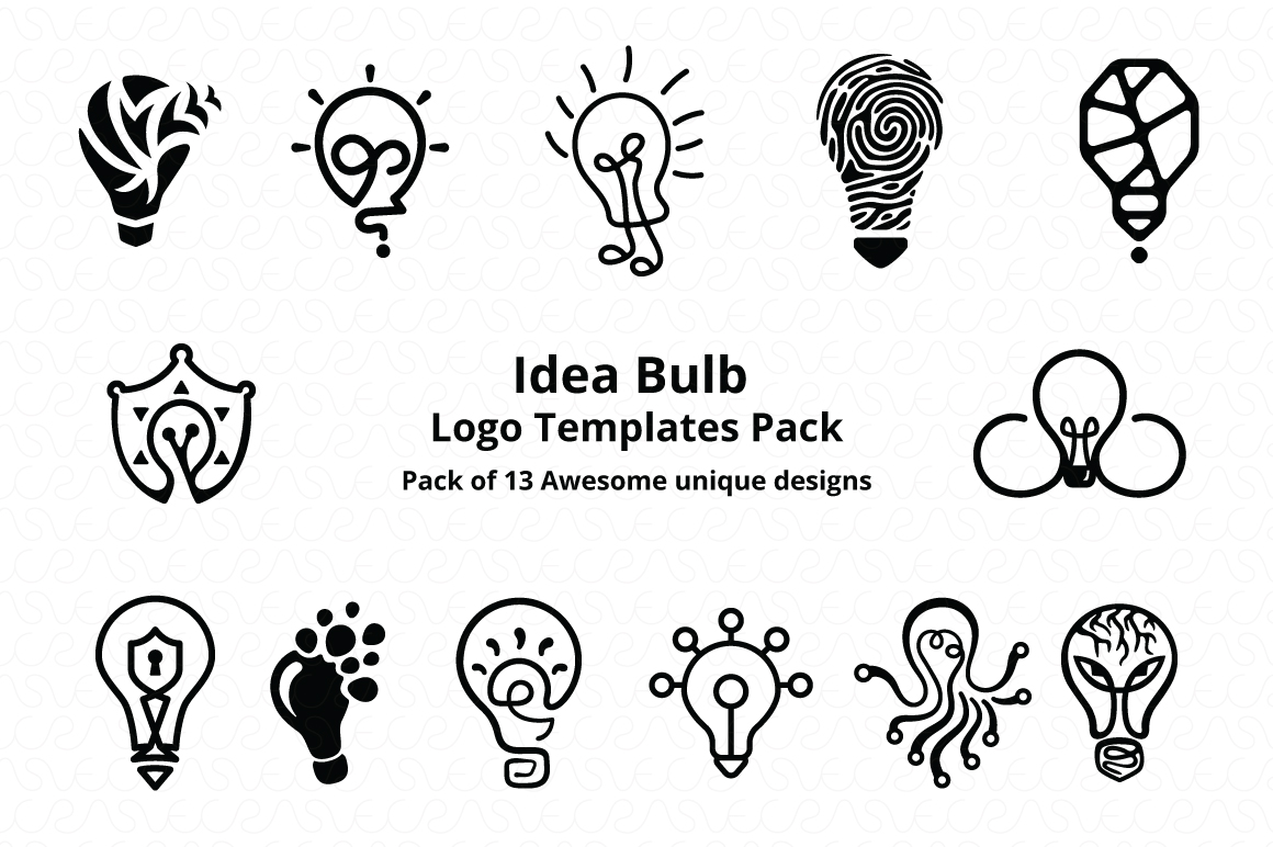Ideas Bulb Logo Templates Pack of 13 Awesome unique designs example image 7