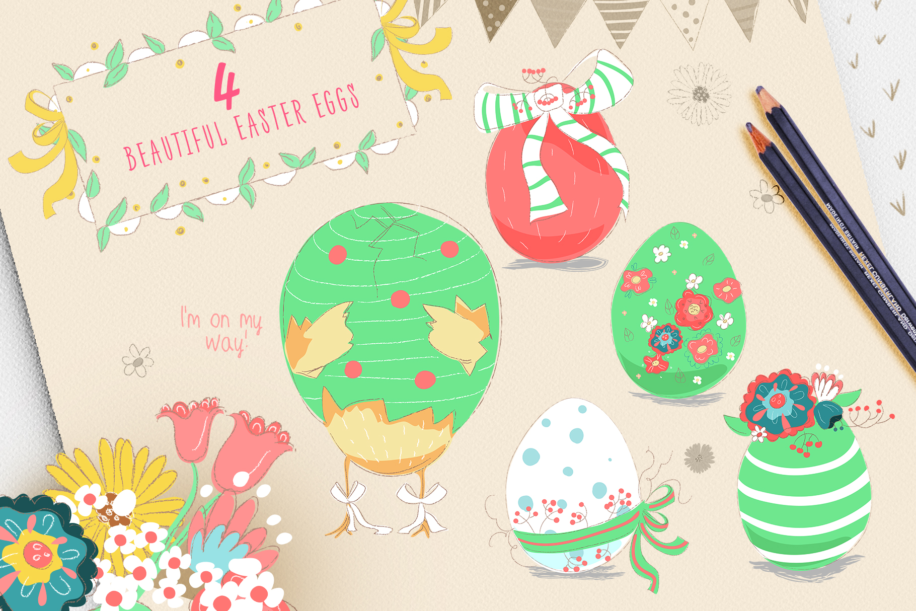 Spring Chicks Easter Clipart example image 3