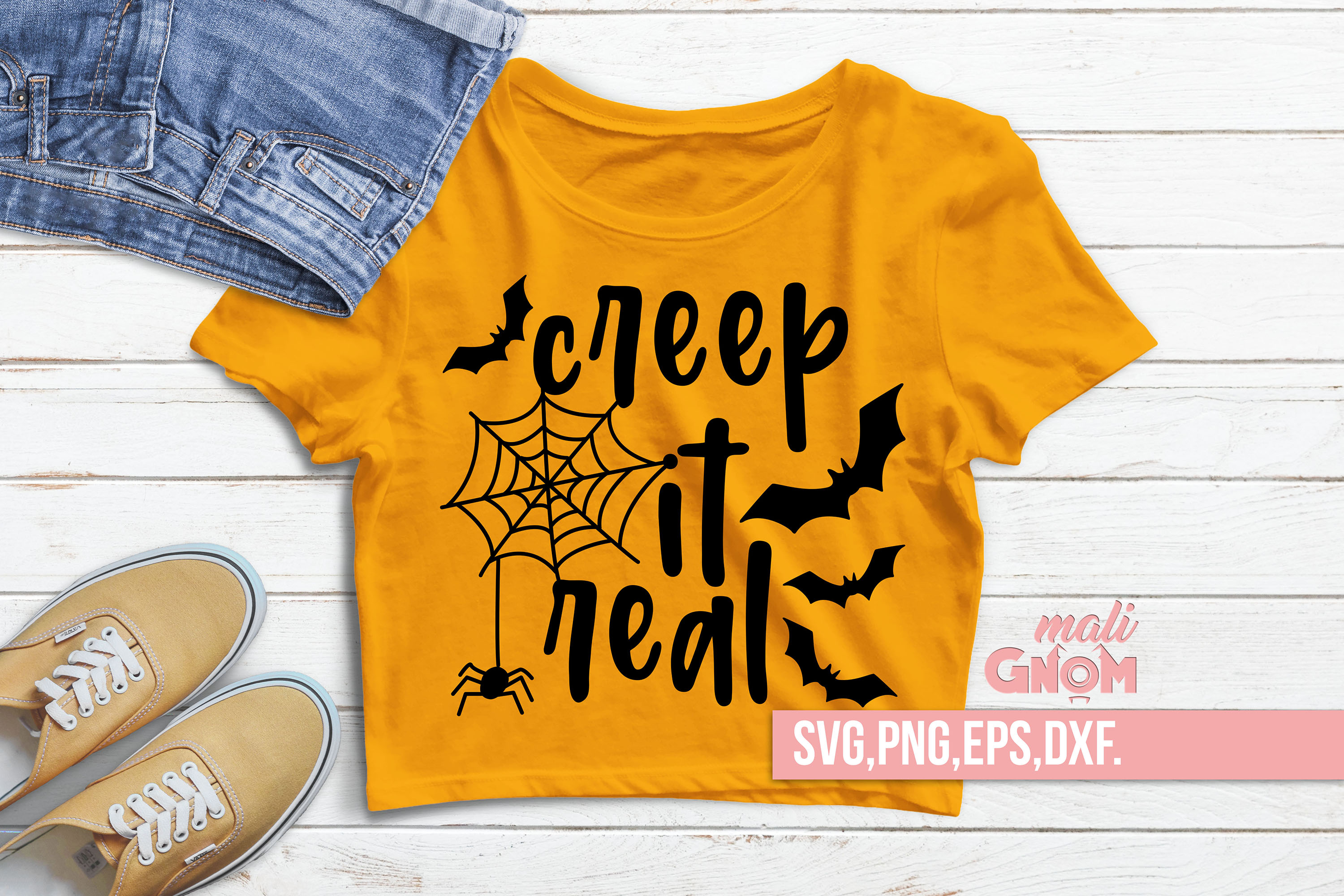 Creep It Real SVG, Halloween SVG file, Trick or Treat Bag example image 1
