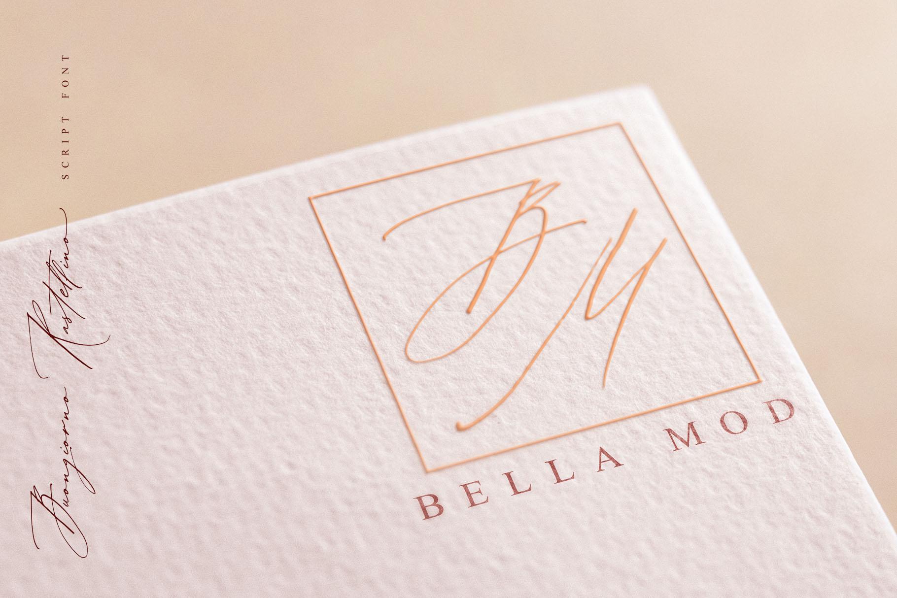 Buongiorno Rastellino script font example image 10