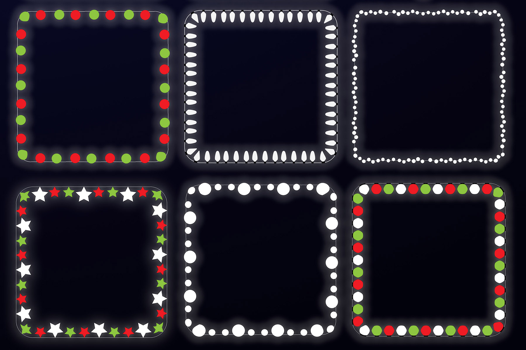 String Lights - Borders and Frames Illustrations example image 7