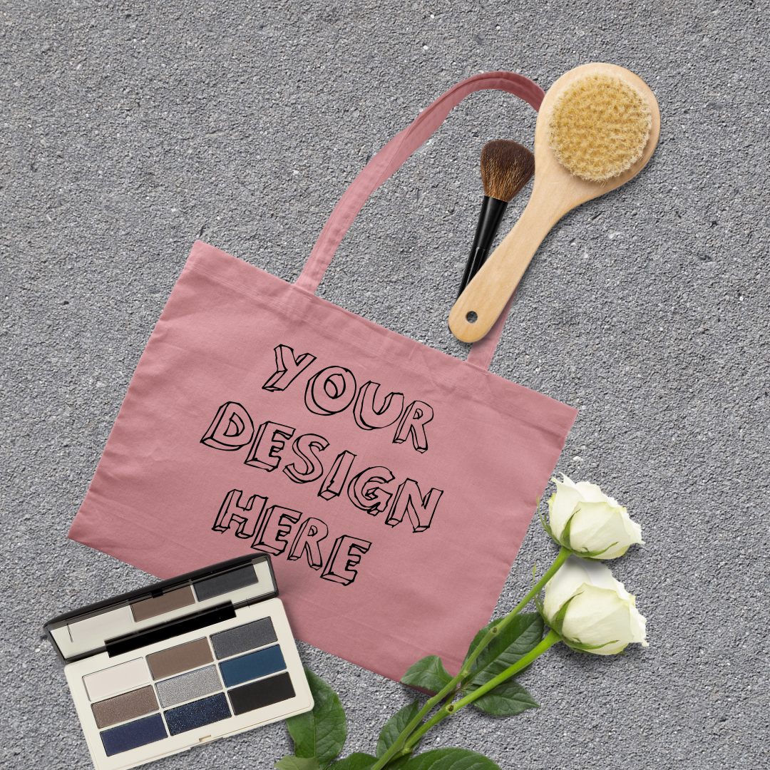 MEGA Bundle|Tote Bag Mockups with White Roses & Makeup Brush example image 10