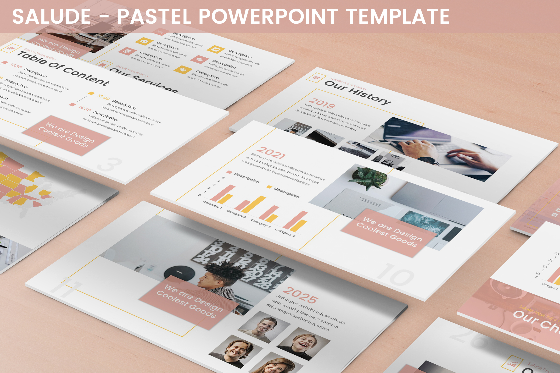 Salude - Pastel Powerpoint Template example image 1