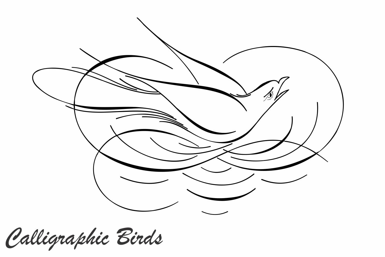 Calligraphic Birds example image 1