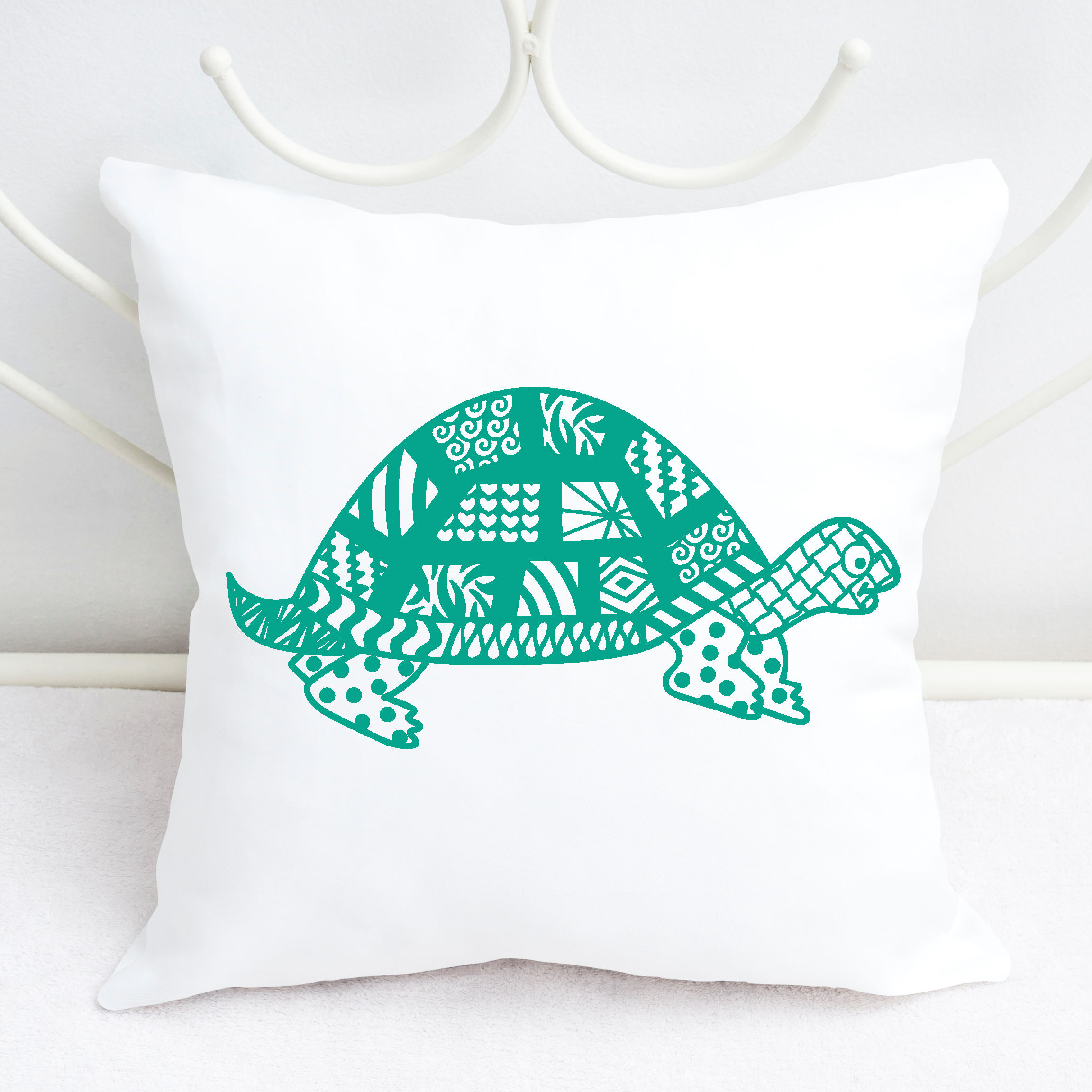 Turtle SVG with Doodle patterns example image 2
