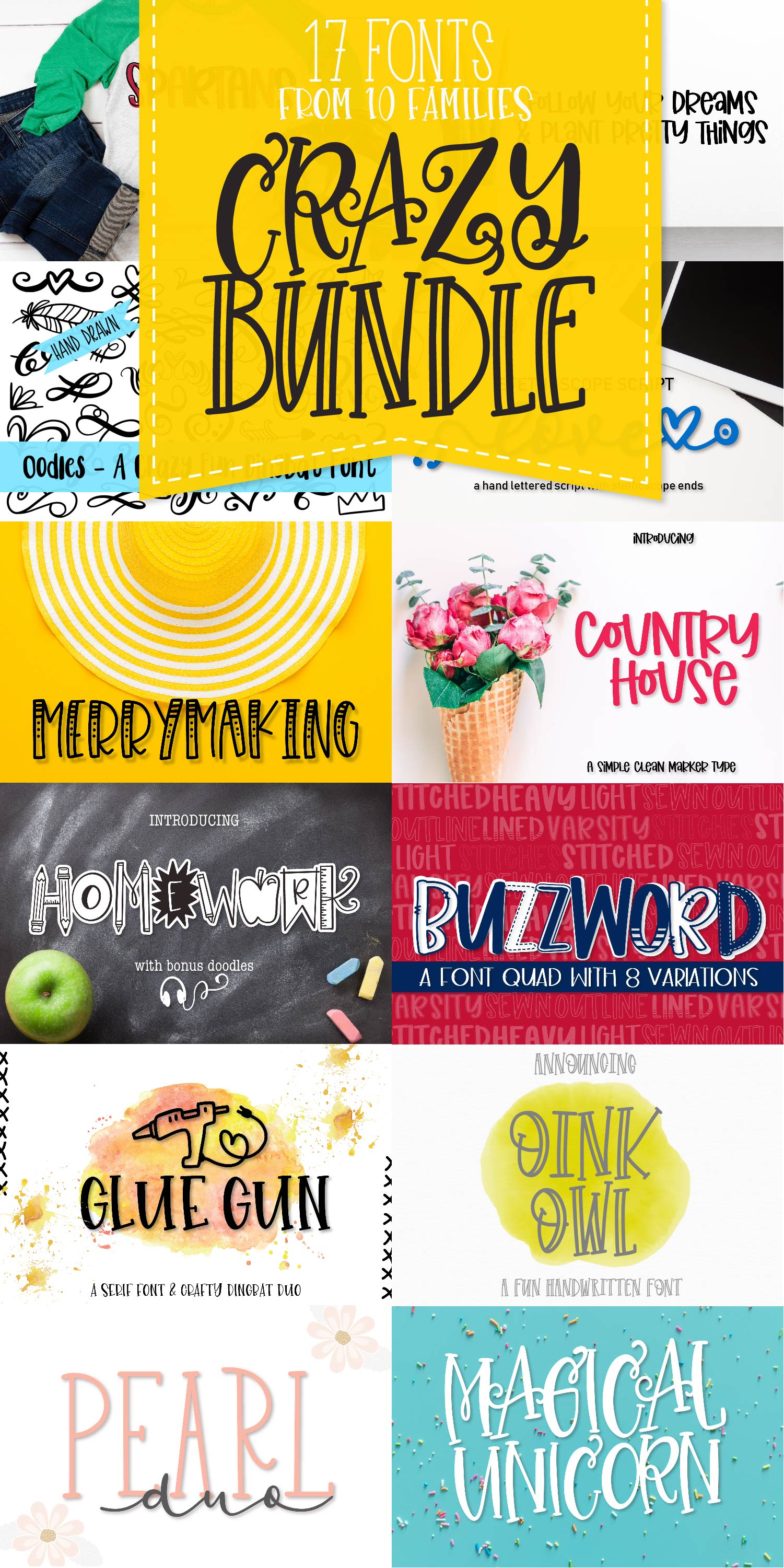 My Favorite Fonts - Crazy Good Deal! - 17 fonts! example image 22