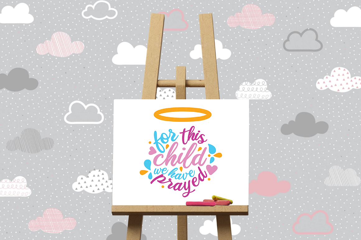 Pregnancy Announcement SVG Cut Files - For this child example image 3